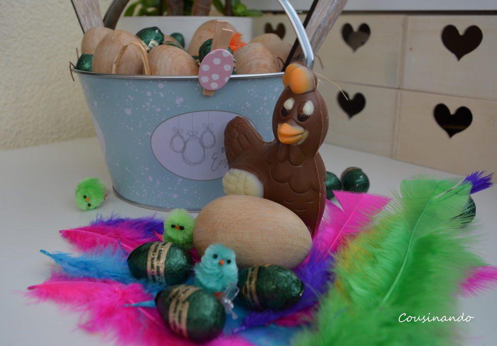 Reto Mona de Pascua Chocolate Pollitos Plumas