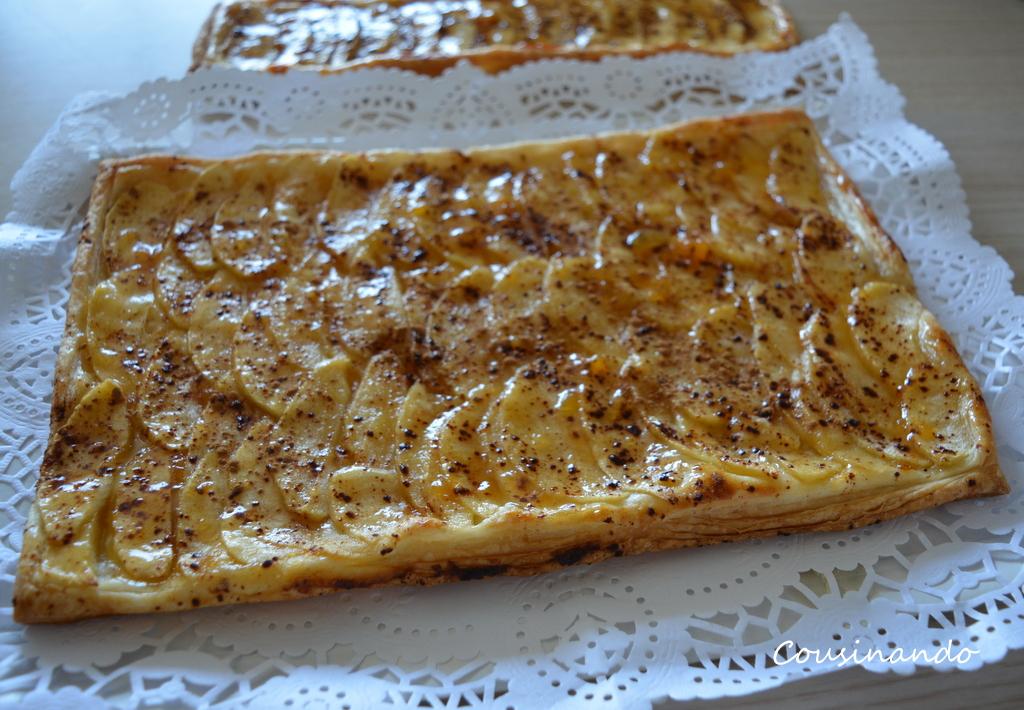 Tartaleta de hojaldre conmanzana