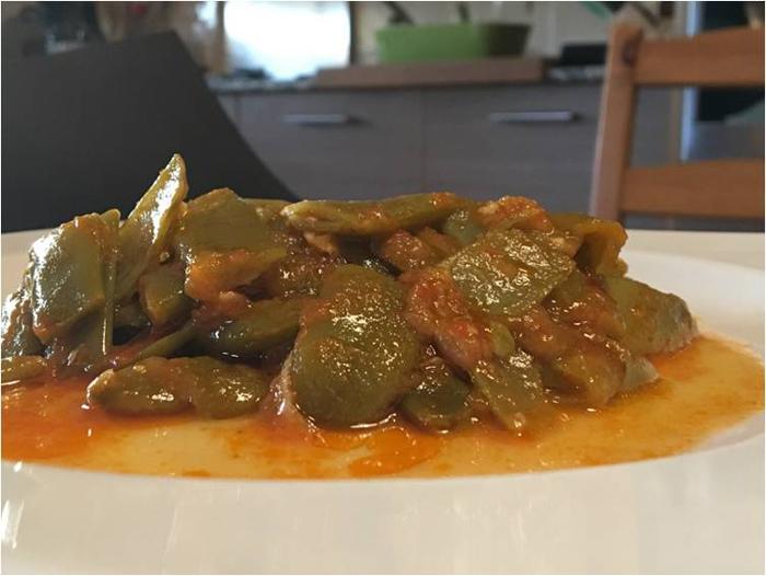 judias verdes con tomate en thermomix