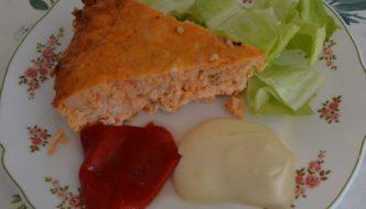 Porción de pastel de pescado