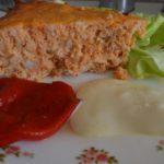 pastel de merluza con mayonesa