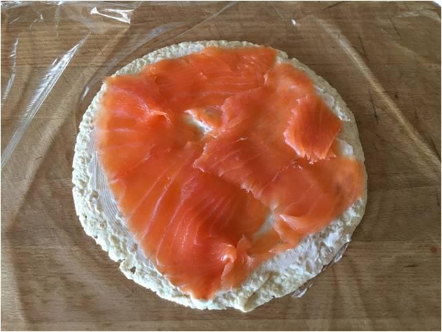 elaboración rollitos de salmón
