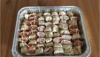 rollitos variados de tortitas de maiz