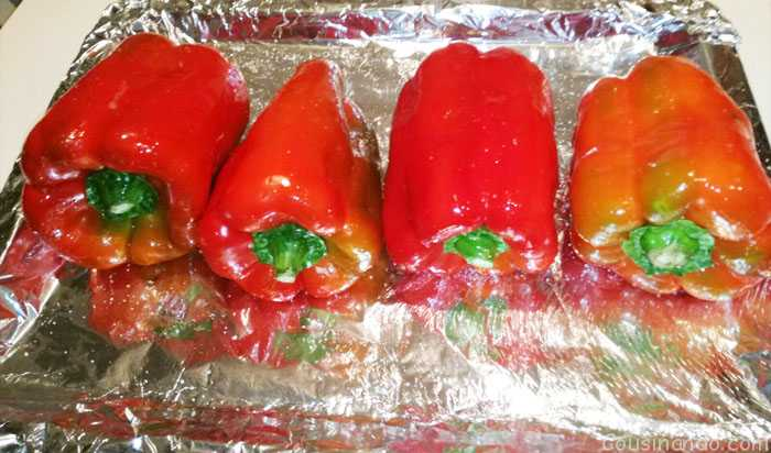 pimientos rojos para asar en el horno