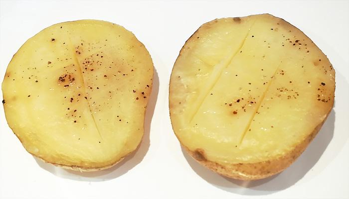 patata al caliu asada en el horno