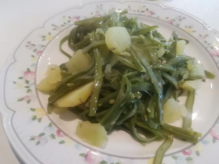 judía verde con patata