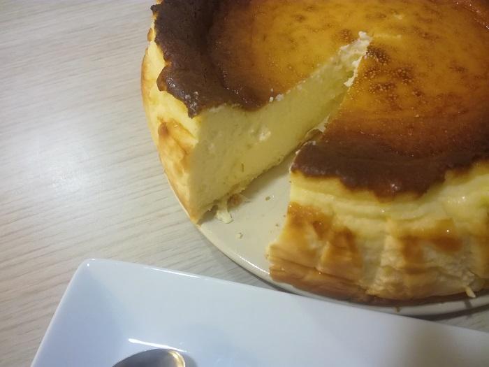 Interior de la Tarta de queso de la Vina