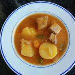 racion de marmitako de atun con patatas