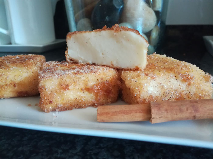 leche frita en porciones