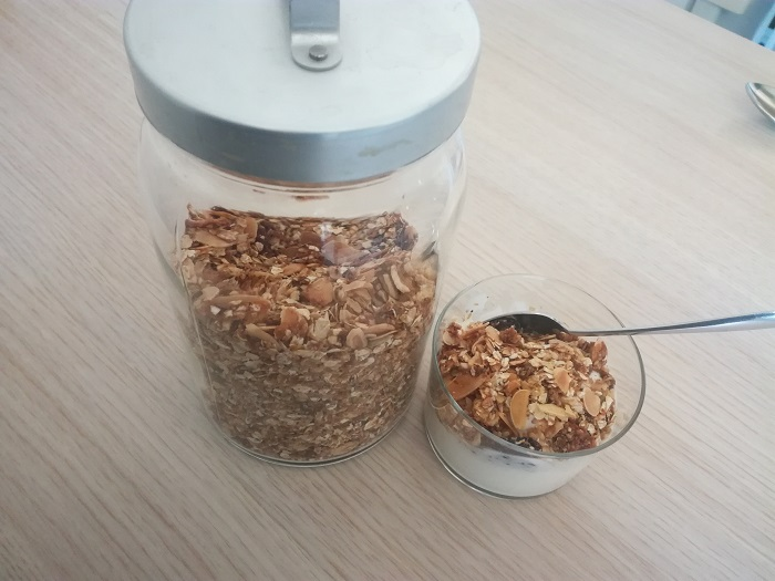 tentempies saludable granola casera