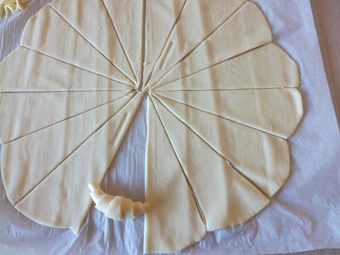 masa para preparar croissants