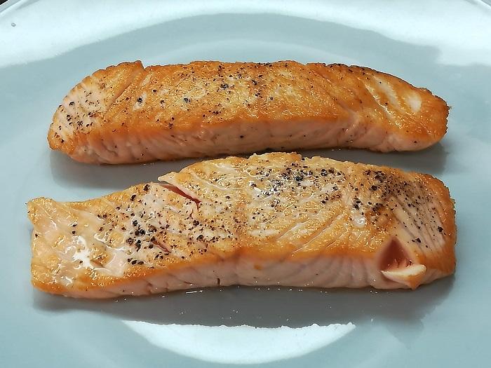 lomos de salmon a la plancha