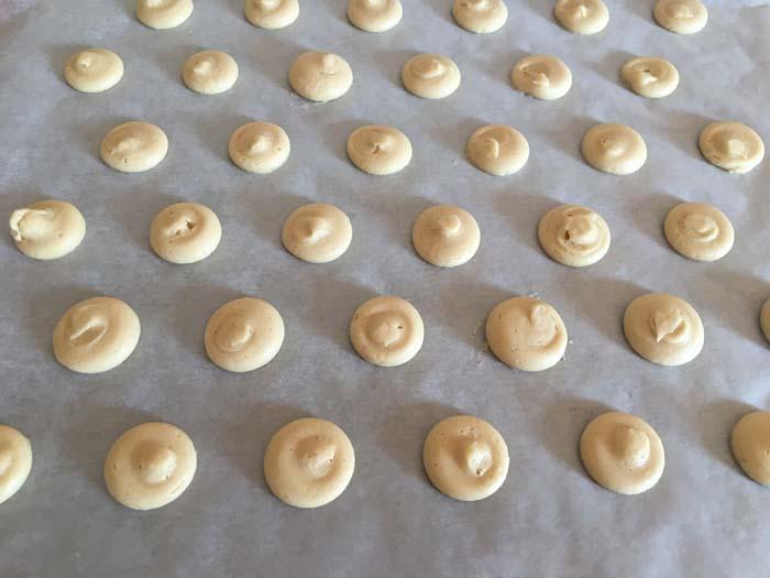 galletitas de vainilla preparadas para el horno