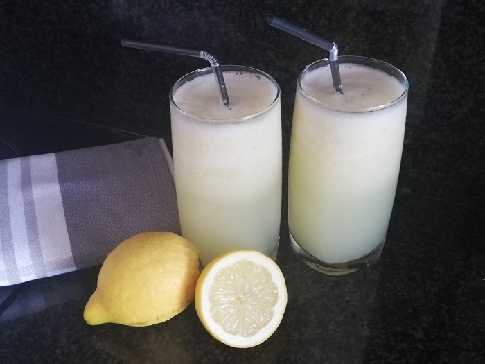 Granizado casero de limón