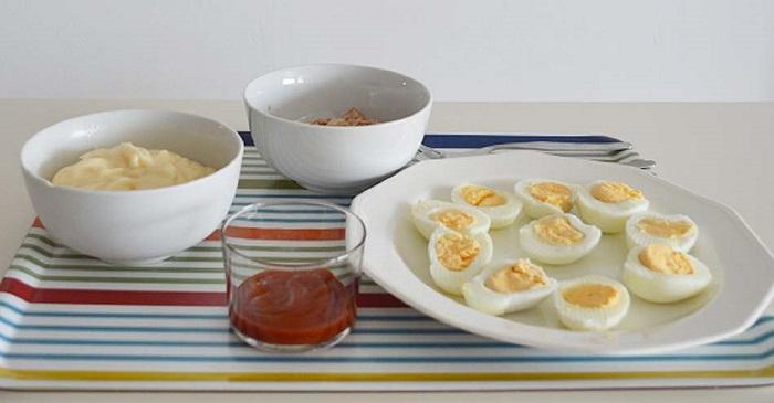 ingredientes para hacer huevo rellenos