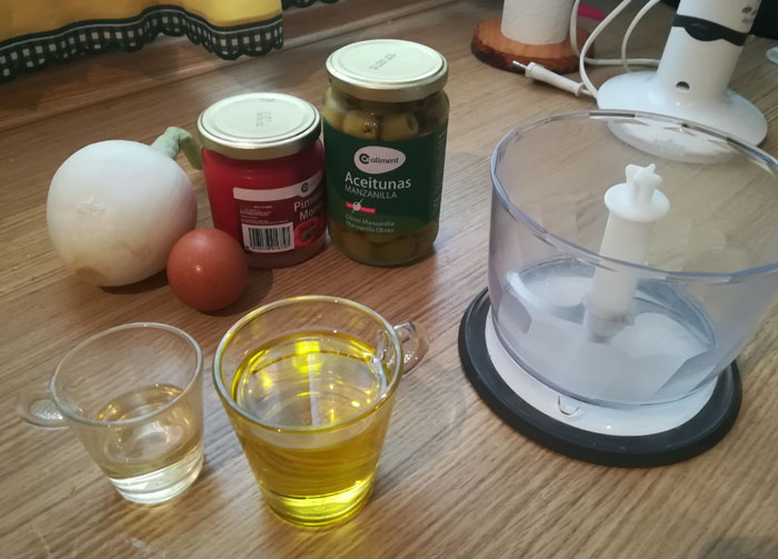 ingredientes para salsa vinagreta