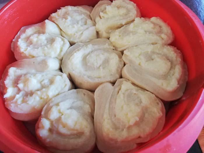 molde con masa chinoise para el horno