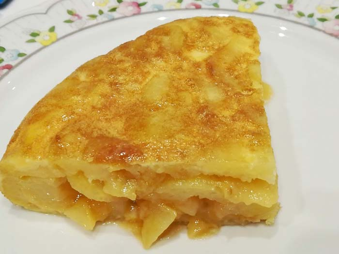 tapa de tortilla jugosa