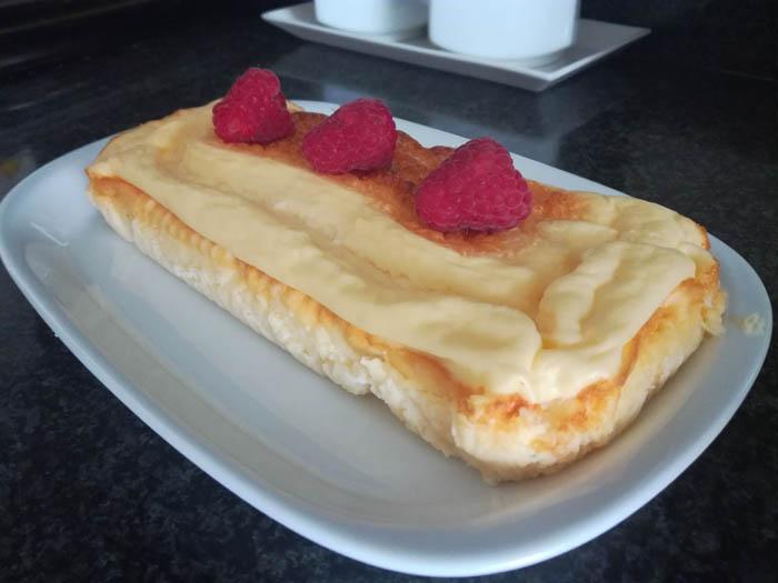 pastel de queso bajo en materia grasa