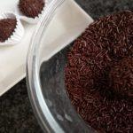trufas y virutas de chocolate